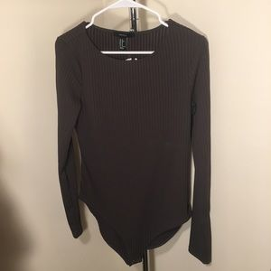 F21 long sleeve body suit